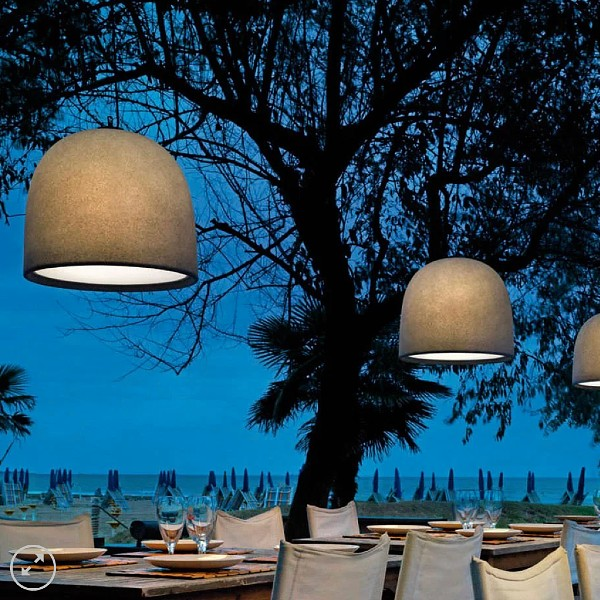 Campanone Outdoor Pendant Light by Modoluce