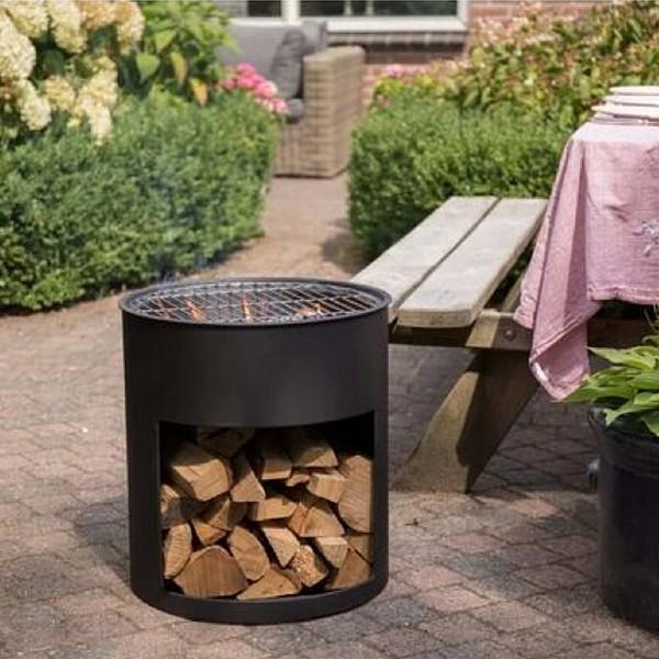 RedFire Fire Barrel Milshire Black Steel