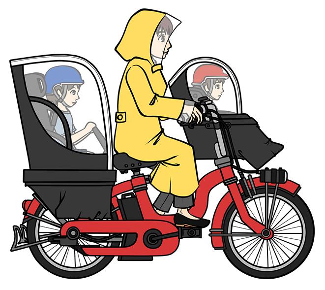 雨の日の自転車は大変