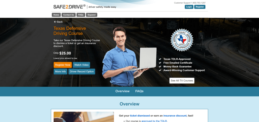Safe2Drive Texas Defensive Driving