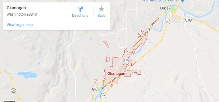 Maps of Okanogan, mapquest, google, yahoo, bing, driving directions