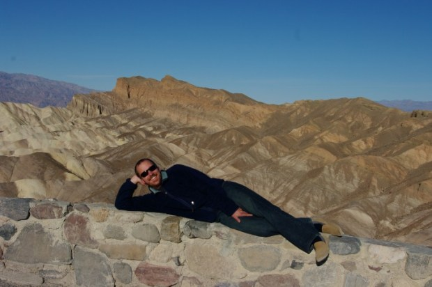 Paul doing the Burt Reynolds on Zabriskie Point.