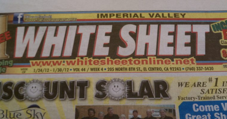 Desert Life Makeover: $4,250   Dispatches from the Imperial Valley White Sheet