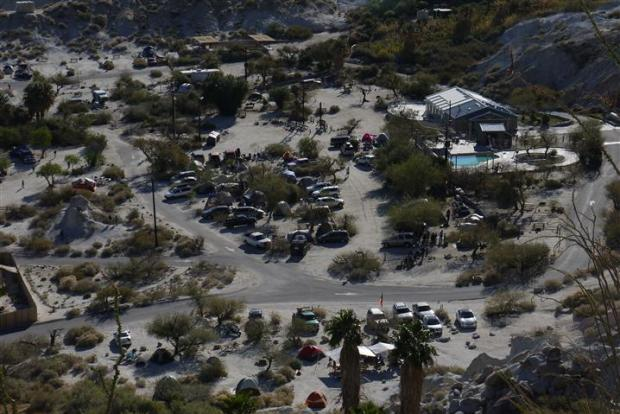 The park from above. After the arrival of the boyscouts.