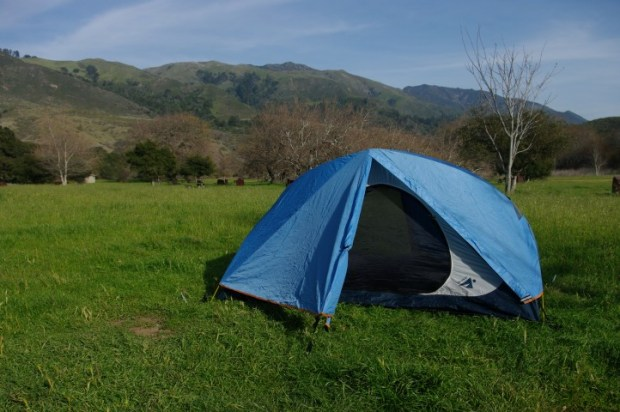 Our tent, Rocky Jr.