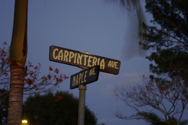 Street signs in Carpenteria. Cue the swoon.