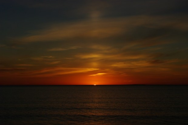 There was no green flash, much to the disappointment of the kid next to us watching the sunset with his parents.
