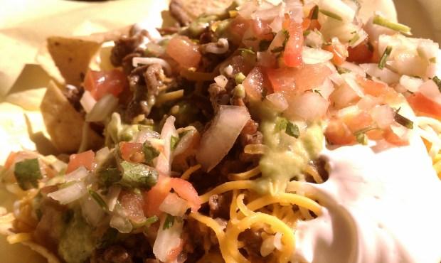 Insanely good nachos.