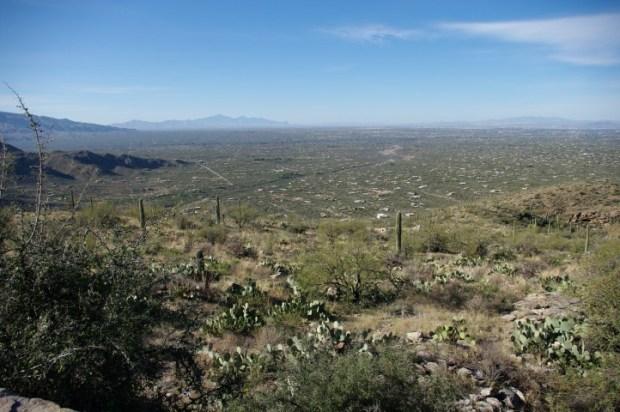Looking southwest.