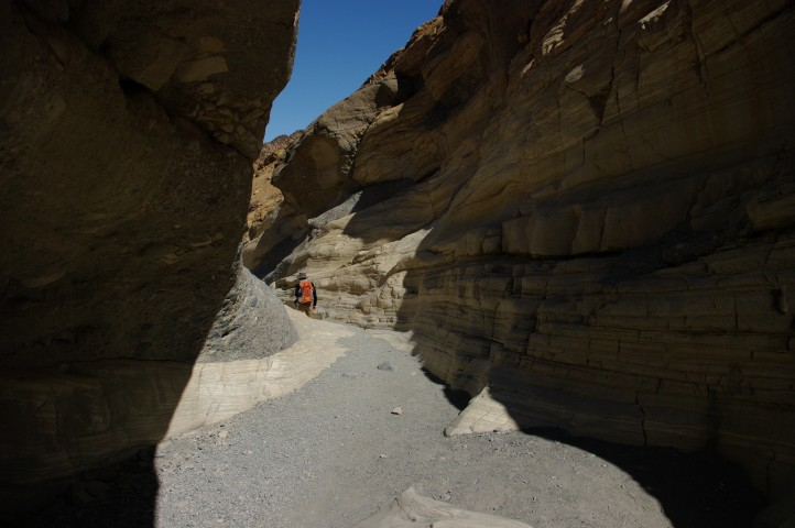 The narrow beginning of the canyon.