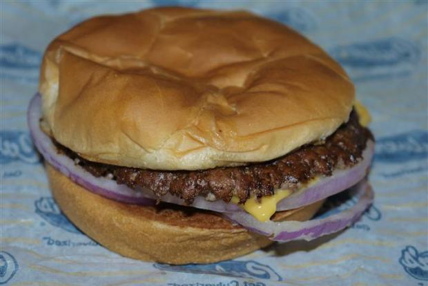 Culver's burger. You want to lick that cheese drip don't you?