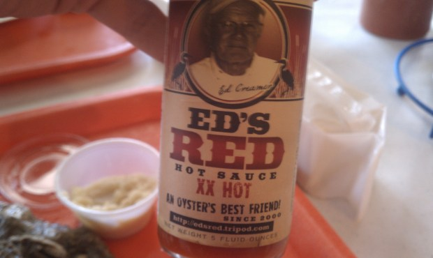 My (local) favorite for the day -- Ed's Red Hot Sauce.