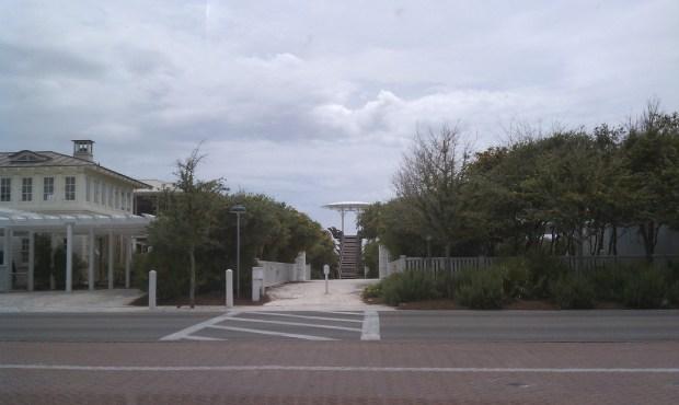 Seaside, FL public beach access, a big design plus.