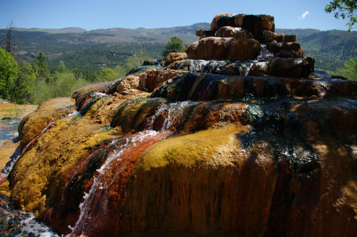 Leaving Durango, you'll see hot springs along the road, including this cinnamon bun shaped spring.