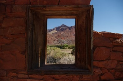 View from a window in the Lee's Ferry fort.
