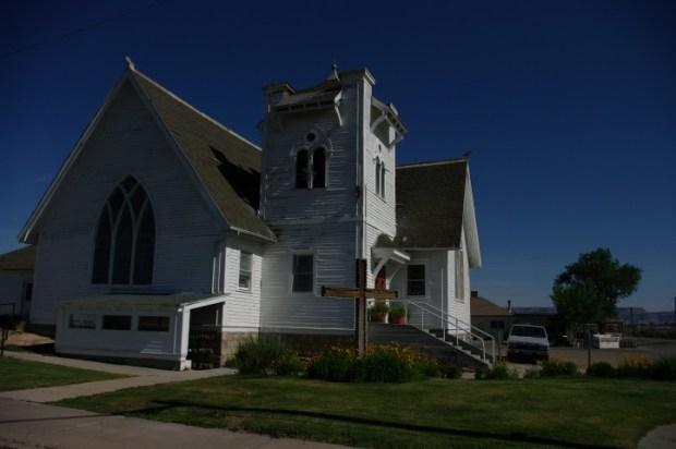 Most interesting church steeple I've seen.
