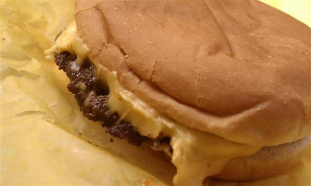 Dick's cheeseburger. Tasty food, great prices.