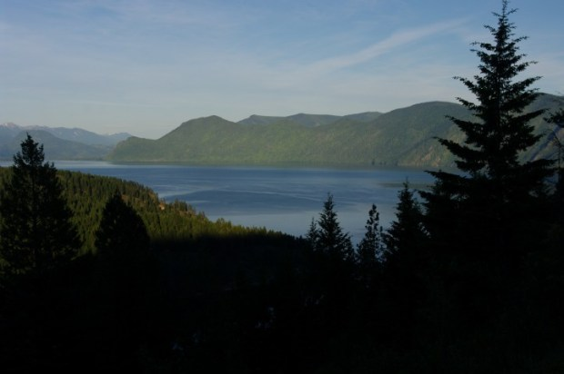 Looking out over Lake Pend Oreille.