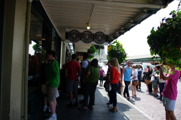 The original Starbucks...people sure seem to love that place.