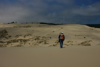 Paul's at the edge of a sand dune cliff.