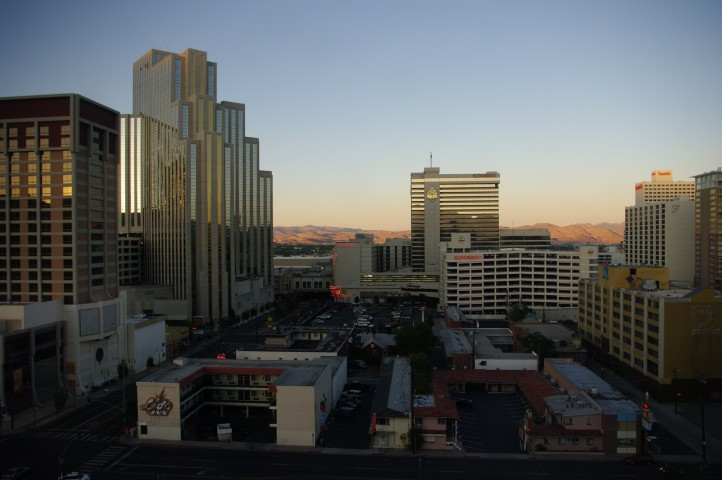 Reno at sunset.