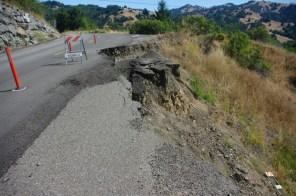 Road erosion.