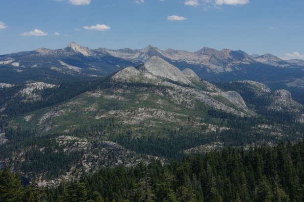 The view behind you on Sentinel Dome. Try not to get so distracted by Half Dome that you forget to turn around.