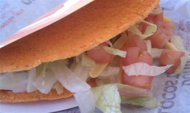 Taco Bell Doritos Locos Taco Supreme ... in repose.