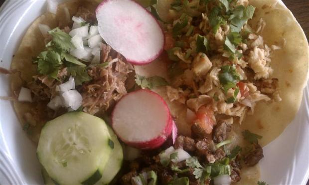 Great tacos at Taco El Gordo in Vernal, UT.