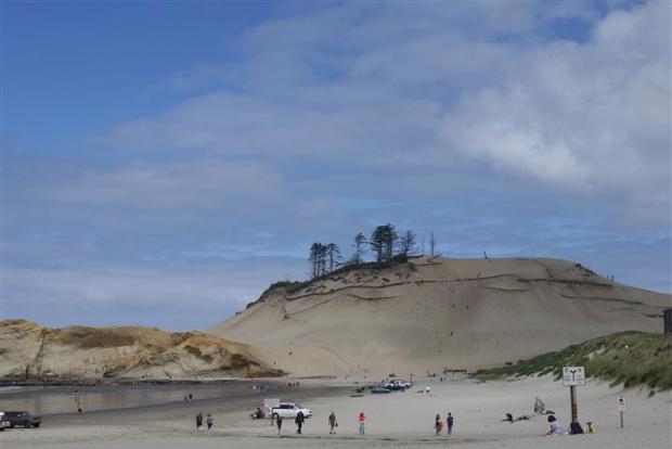 The dunes at Cape Kiwanda Beach outside Pacific City, Oregon.