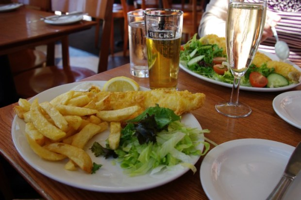 Fish and chips at The Regency.