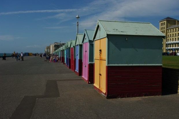 Hove's beach huts. Wish more hut owners had visited the shore this Saturday.