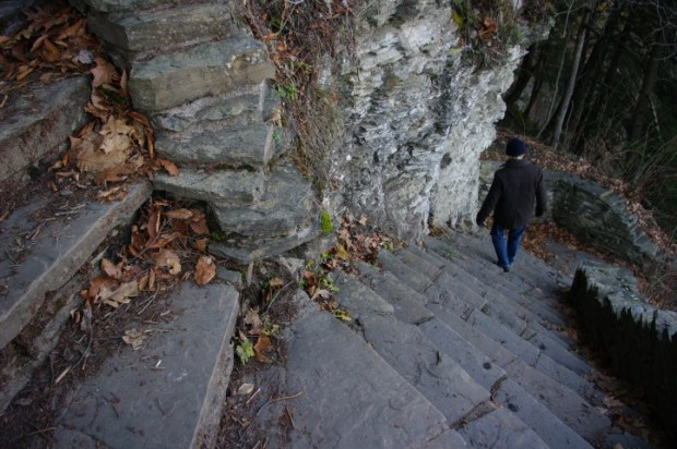 A segment of the Cliff Staircase.