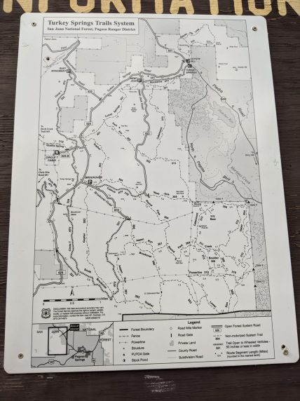 Trail map for Turkey Springs.