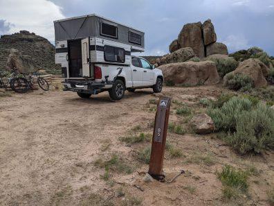 Camping in Hartman Rocks.