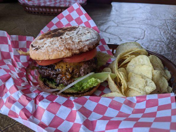 The burgers at Big Sandy Lodge