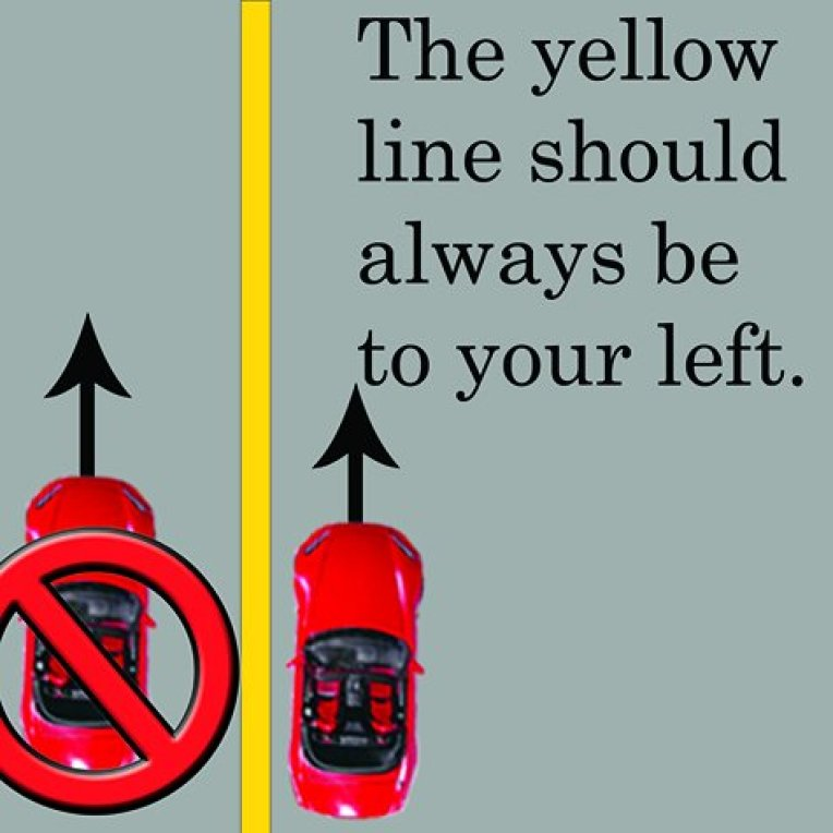 yellow road lines