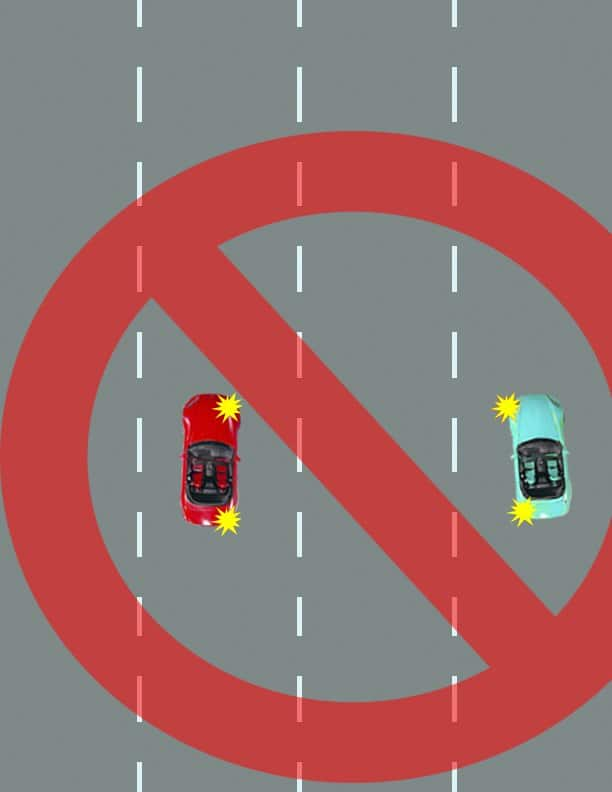 how to change lanes in heavy traffic