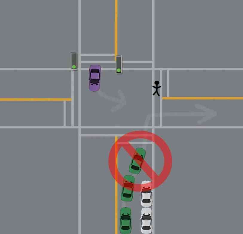 intersection right turns