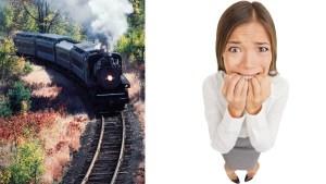 car on train tracks