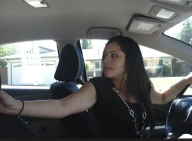 look backwards when driving backwards