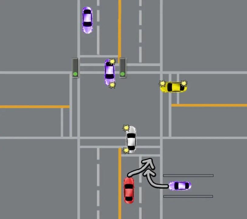 change lane inside itersection