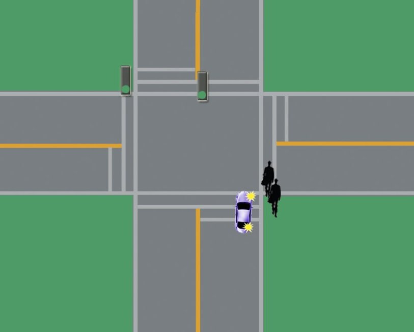 driving intersection turns