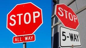 5 way stop