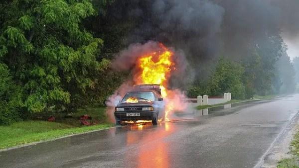 car fire emergency vehicle