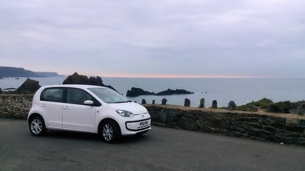 Volkswagen up! by sunset