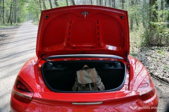Porsche Boxster 981 Rear Luggage Compartment