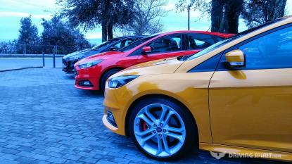 2015 Ford Focus ST - Tangerine Scream, Race Red & Panther Black