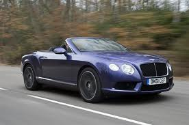 Bentley Continental Convertible with roof down