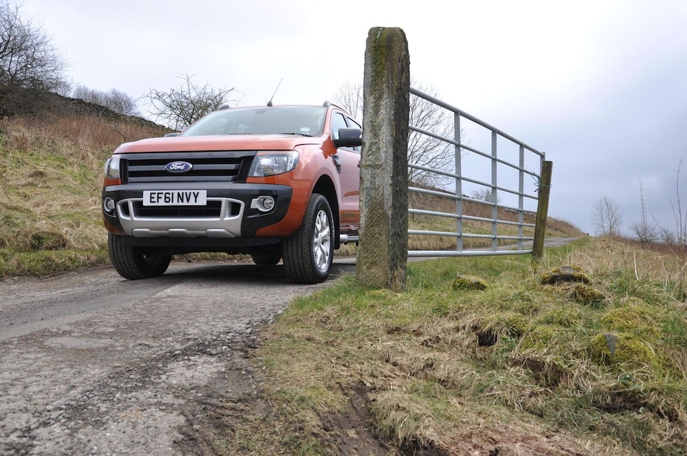 Ford Ranger Wildtrak orange front side